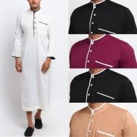 ASAFI Jubah Gamis Pakaian Gamis Pria Al Isra Busana Muslim Pria