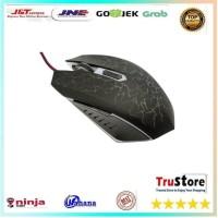 Mouse Gaming Optical dengan Dazzle Color Red LED - Black