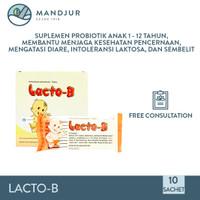 Lacto-B Pack Isi 10 Sachet - Suplemen Pencernaan Anak Anak