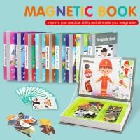 Buku Aktivitas Puzzle Anak Magnetic Book Import - OT2031 - model enam