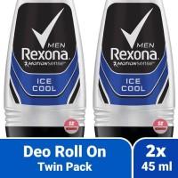 Twin Pack 2x Rexona Men Ice Cool - Deodorant Roll On Pria