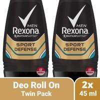 Twin Pack 2x Rexona Men Sport Defense - Deodorant Roll On Pria