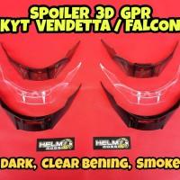 SPOILER 3D GPR - Kyt vendetta 2 falcon Bening Smoke dan Hitam