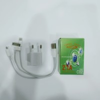 Charger Handphone 2.1A Mini / 3in1 untuk iPhone / Android/ Cuci Gudang