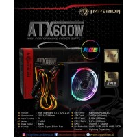 Imperion PSU ATX600 W RGB P600 Led 8 PIN High Perfomance Power Supply