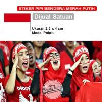 Stiker pipi bendera merah putih Indonesia / tempelan stiker pipi polos