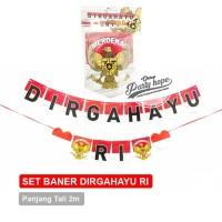 Banner DIRGAHAYU RI 3 / bunting flag HUT RI / banner Garuda HUT RI