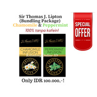 [Paket Hemat] Lipton Teh Celup Chamomile 25s + Peppermint 25s