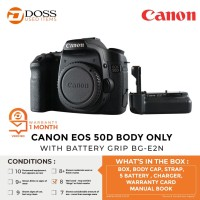 CANON EOS 50D BODY ONLY WITH BATTERY GRIP BG-E2N - SCORE 8