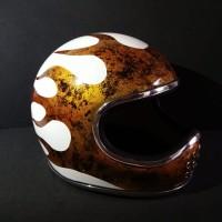 Batok Helm Custom Retro Cakil Bahan