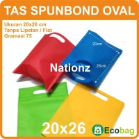 (20x26 cm) Tas Kain / Goodie Bag / Spunbond / goody polos