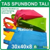 (30x40x8 cm) Tas Kain / Goodie Bag / Spunbond / goody polos