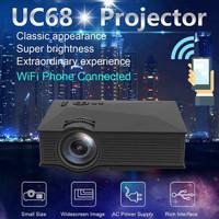 LED Projector Unic UC68 FHD WiFi Proyektor UC 46 1800 Lumens Wireless