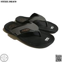 STEXEL DRACO Sandal Casual Pria Jepit Kulit Sintetis Premium Original