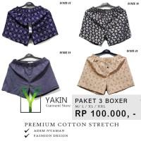 Celana Pendek Boxer katun| Cotton|Super adem | Model Fashion| PAKET 2 - M