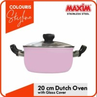 Maxim Colouris Skyline Stainless Steel Panci Saucepot Dutch Oven 20 cm