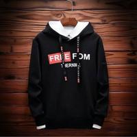 RisRus Sweter FREEPOM battle hoodie sweater cewek cowok basic sweater