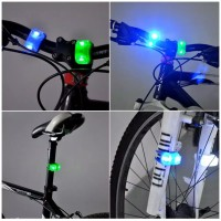 Lampu Sepeda LED Strobo Depan / Belakang