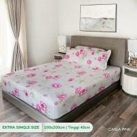 King Rabbit Sprei Single uk. 100x200 cm Motif Carla Pink