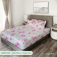 King Rabbit Sprei Queen uk. 160x200 cm Motif Carla Pink
