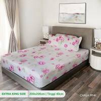 King Rabbit Sprei Extra King uk. 200x200 cm Motif Carla Pink