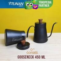 Gooseneck Kayu Kettle Leher Angsa Teflon 450 ml Conalli Manual Brew
