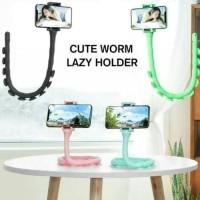 Lazypod Holder HP Gurita Cute Worm Lazy Phone Holder Fleksibel 360°