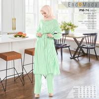 Set Rayon Baju Piyama Wanita Lengan Panjang Premium Endomoda PM 74 - Hijau, S