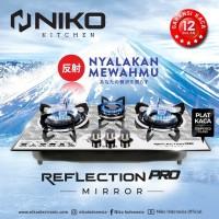 Niko Kompor Gas Tanam + Meja 3 Tungku 2in1 Reflection Pro Mirror
