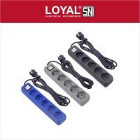 Stop Kontak + Kabel 3M OSAKA 5 Lubang (LY-209) SNI