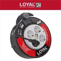 Kabel Roll (LY-131SK) (PANJANG KABEL 15M+SAKLAR INDIKATOR) (SNI)