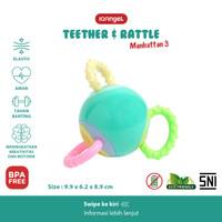 IQAngel Manhattan 3 Teether Rattle Toy / Mainan Gigitan Bayi