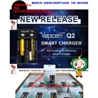 Vapcell Q2 Smart Charger Fast Charger Authentic I Vap Cell Charger