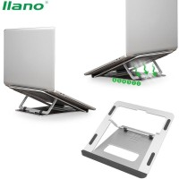 Llano Dudukan Laptop Aluminium - Portable Laptop Stand - Meja Laptop