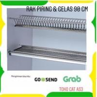 Rak Piring Gantung Kitchen set Stainless steel Tako 90 cm