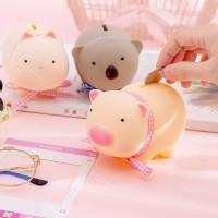 celengan plastik hewan lucu cute piggy bank SCE002