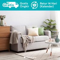 Hiro Sofa 2 Seater Scandinavian atau Sofa Minimalis 2 Dudukan - Abu-abu Muda