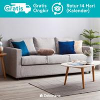 Hiro Sofa 3 Seater Scandinavian atau Sofa Minimalis 3 Dudukan - Abu-abu