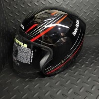 Ahmm Ori Honda HC B/R Helmet / Helm half face - size L / 87100HFHCBRL