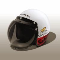 AHM ORI Honda Classic Helmet / Helm Half Face - Size L / 87100FFHCL