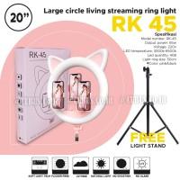 RingLight COSTA RK 45 Cute Cat's Bi Colour Led Makeup 20inc Stand 2M