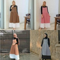 tisha overall 21 - outer - pakaian muslim wanita