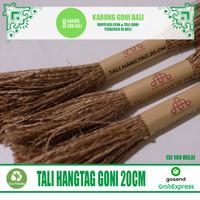 Tali Hangtag Goni 20cm - Tali Gantungan Label Baju - Benang Label