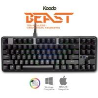 KOODO BEAST PRO GREY CASE Mechanical Keyboard TKL   Bluetooth
