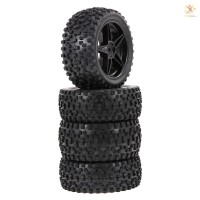 E&T 4PCS 1/10 RC Off-road Tyre Nail Block Tread Pattern Five-pointed