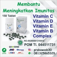 Multivitamin VItamin C dan E serta D3 Imun tubuh antivirus 150 tablets