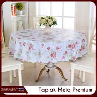 Taplak Meja Makan Ruang Tamu Bulat Anti Air Tebal Premium Ukuran 152cm