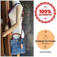 Tas Wanita Coach Original Tote 22 in Signature Chambray Shoulder Bag