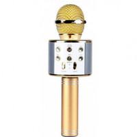 Mix WS-858 Bluetooth Wireless Microphone Speaker Karoake - Mic Ws858 - Kuning