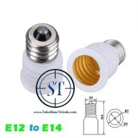 Converter Fitting Lampu E12 To E14 Konverter Plastik LED Candle Pijar